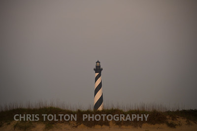 HATTERAS LIGHT AT SUNRISE