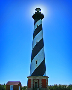 Cape Hatteras Lighthouse with Sun behind it