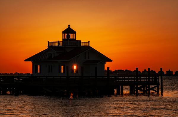 Sunrise at Roanoke Marshes Lighthouse