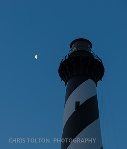Hatteras Lighthouse and Moon