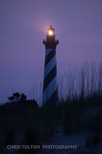 HATTERAS LIGHT IN MORNING TWILIGHT