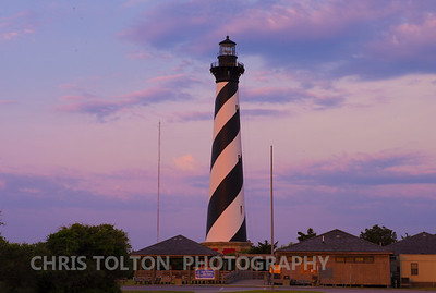 Cape Hatteras Lighthouse Pink Sunrise
