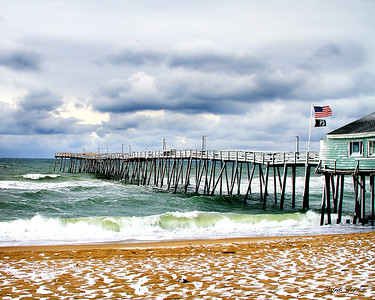 Avalon Fishing Pier in the Snow