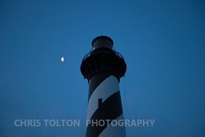 Moon and Hatteras Lighthouse
