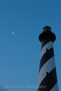 MOON OVERLOOKING HATTERAS LIGHT