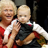 Reed Walston (this years MOD baby) with his grandmother Margaret Edwards