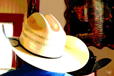 Cowboy Hats at Texas 290 Diner, Johnson City, TX