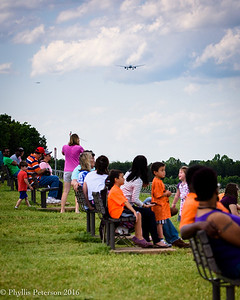 Airport Overlook Crowd © Phyllis Peterson