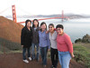 The girls at Marin Headlands, with Golden Gate Bridge in background
