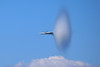 F18 near supersonic speed.