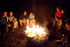 All six of us around the campfire
