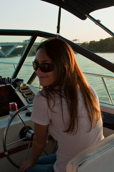 Me driving the boat
