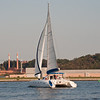 I pretty sail boat in the Potomac near DC.