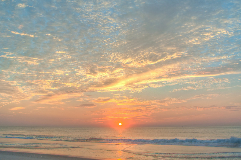 HDR image of sunrise in Ocean City, MD