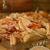 We polished off 3 1/2 lbs of snow crab legs, lobster, corn, potatoes, hush puppies and a crab cake.  We were full!