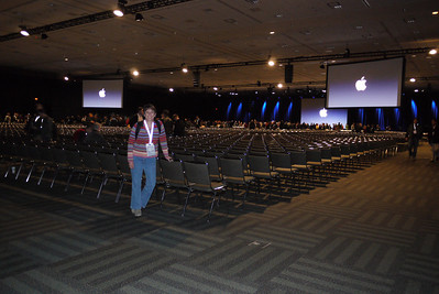 the last keynote. not even all of these seats were filled during the show.