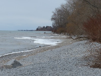 View of Lake Ontario shoreline looking west from the Lighthouse.