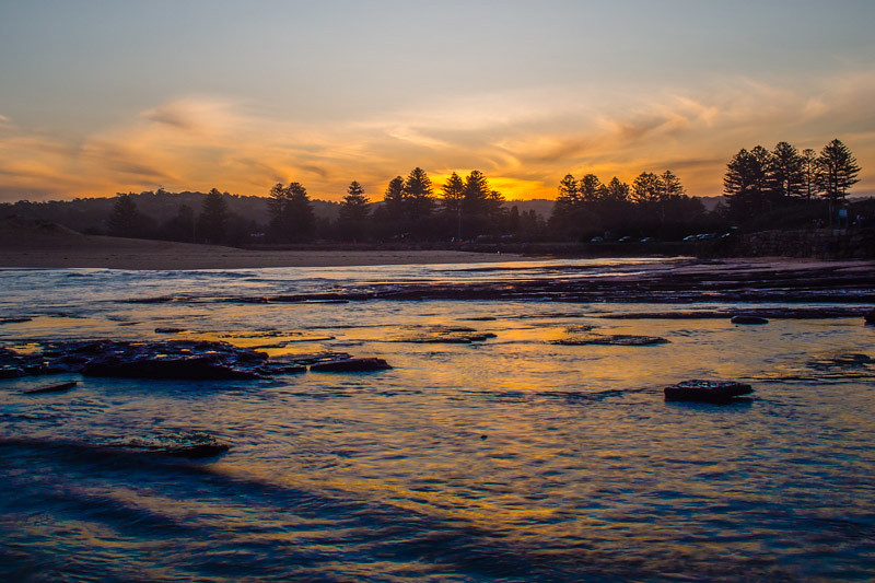 Sunset Narrabeen Estuary