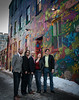These local musicians came to have pro cover photos taken in Graffiti Alley