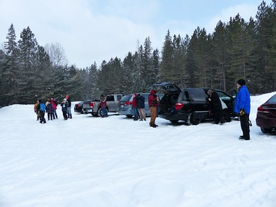 WBFN members meet at the Logging Museum parking lot