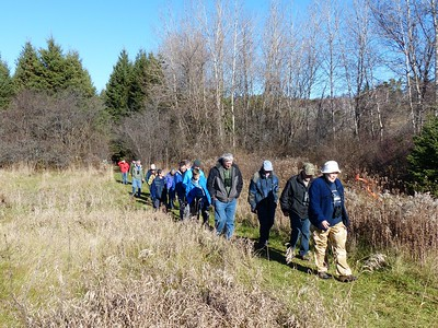 WBFN members walking the trail at Bewdley Conservation Area