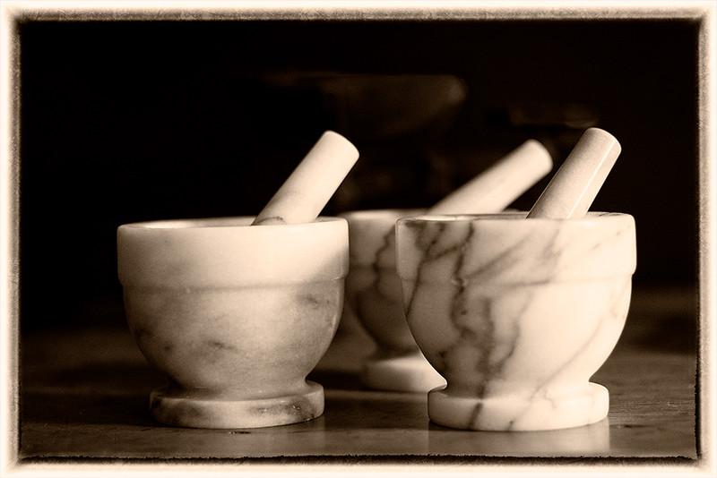 Marble mortars
