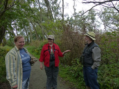 WBFN members standing still and waiting for the Chickadees