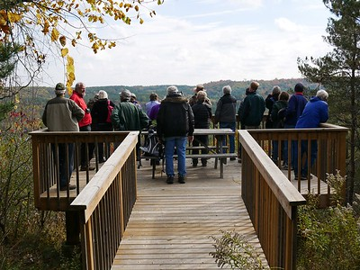 Observation platform at Fleetwood Creek Natural Area