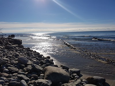 Interesting shoreline rock at Wicklow Beach