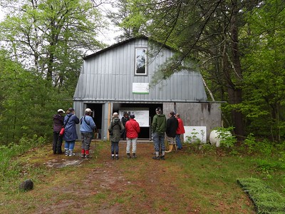 WBFN members getting an orientation on the Hazel Bird Nature Reserve from Val Deziel