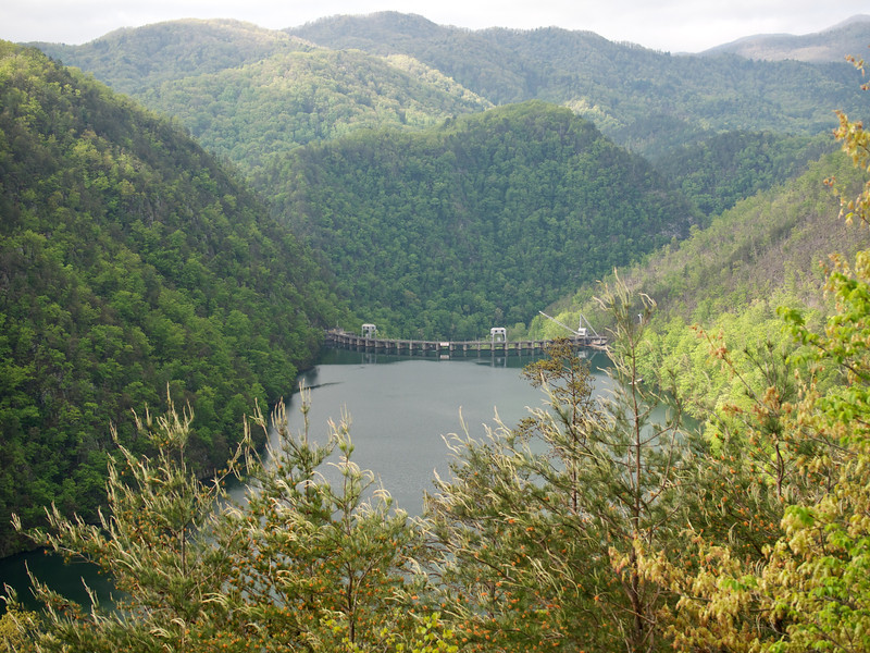 Calderwood dam from the Tail of the Dragon