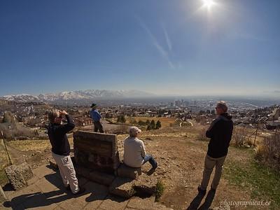 Ensign Peak view of Salt Lake City