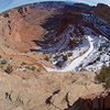Shafer Trail Road into Canyonlands NP - fisheye view of descent