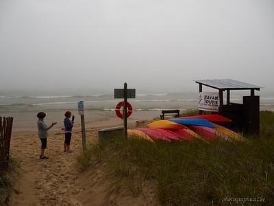 No kayak rentals today. 6 foot waves.