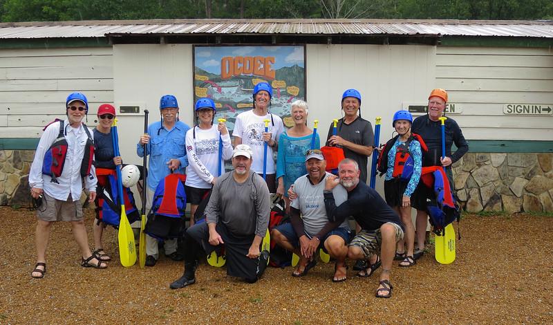 Friends of Maude celebrating a successful run down the Ocoee