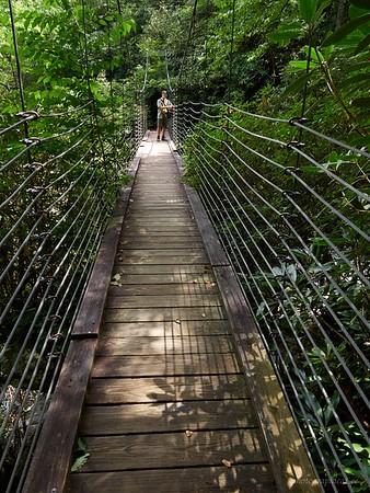 Our destination at the suspension bridge