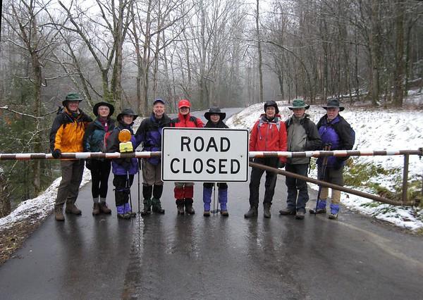 Road to Ramsey Cascade closed. Hiked Injun Creek instead. GSMNP.
