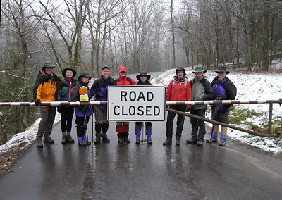 Road to Ramsey Cascade closed. Hiked Injun Creek instead. GSMNP.