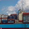 Post panamax container ship