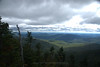 But from a rock outcropping 100 meters south of North Carter, this is the view into the Wild River Valley with the Baldface - Royce collection from right to left, and Evans Notch behind them.