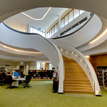 Fred Seeber Bunjil library staircase below
