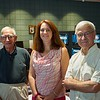 Laura with founding members Murray Rosenthal and Gilbert Cremese.