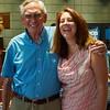 Laura with President Bob Olson.