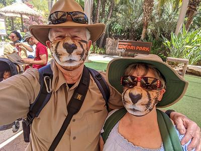 Here's a pic of our Cheetah masks taken at the Safari Park! #San_Diego_Zoo, #SCPCphotos, #Nikon, #Tamron, #Animals, #Flowers, #Birds