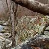 Old railroad retaining wall along Roaring Creek