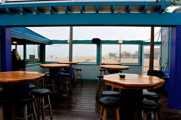 The day started pretty cloudy and rainy, but we hung out at Martell's Tiki Bar anyway.