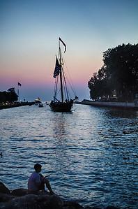 Twilight on Lake Michigan