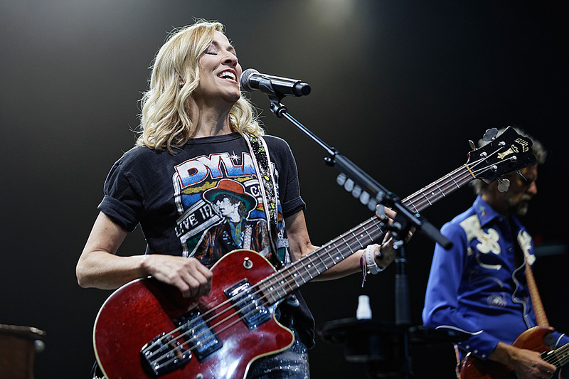 . Sheryl Crow  live at Joe Louis Arena at the Outlaw  Fest  in Detroit, Michigan on 7-8-2017.  Photo credit: Ken Settle