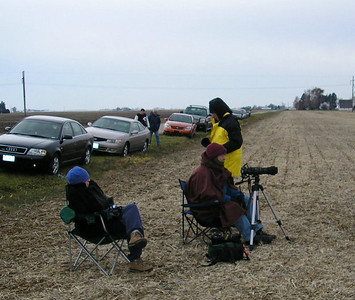 It wasn't arctic tundra cold, but it was a cold, windy day, so everyone was bundled up. Photo by Christopher Brian Deem