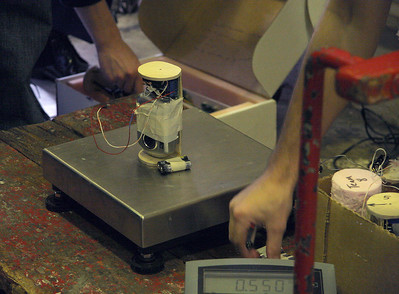 One of the camera payloads weighs in at 0.550 pounds.  Photo by Greg Smith